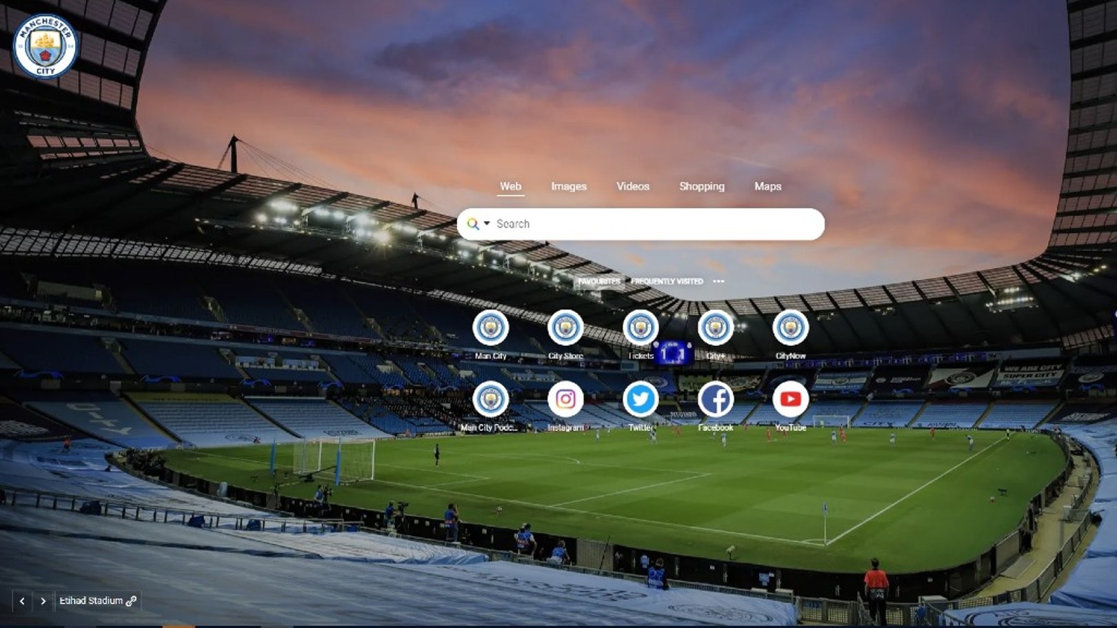Get the Official Manchester City Google Chrome start page