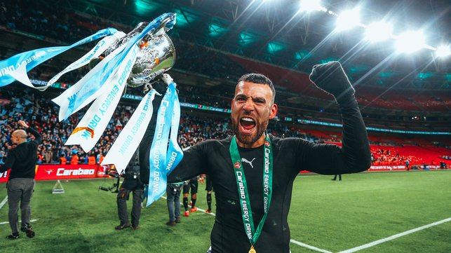 UP FOR THE CUP : Savouring a third successive Carabao Cup triumph