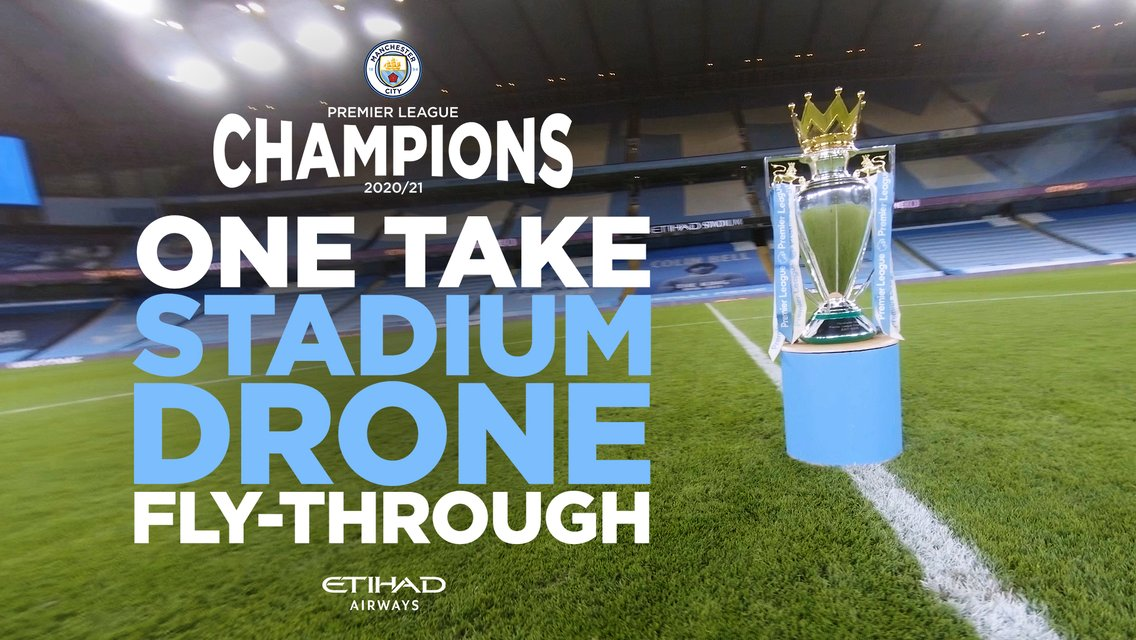 Premier League Champions | Survolez l'Etihad Stadium