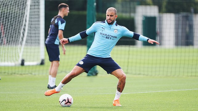 FLEXI TIME: Kyle Walker is at full stretch
