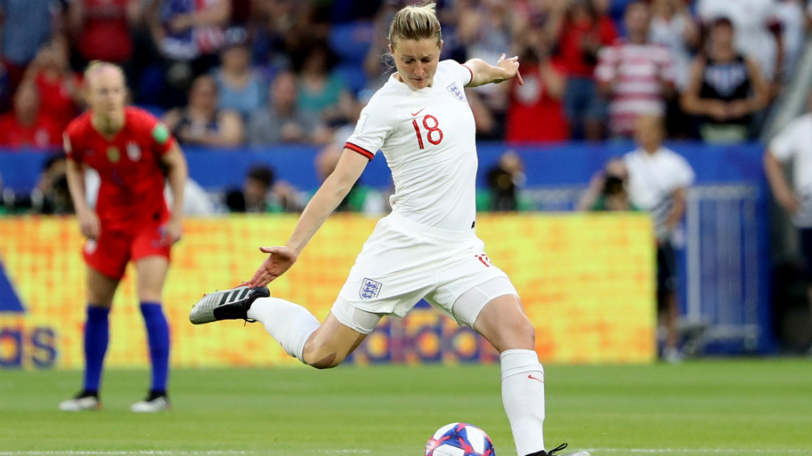 WHITE HOT: Ellen White bagged her sixth goal of the tournament
