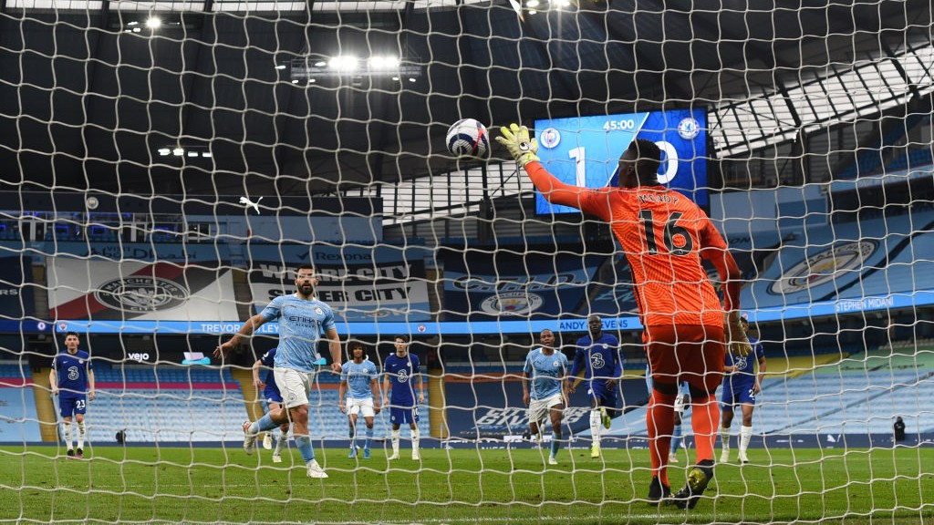 NOT THIS TIME: Sergio Aguero is denied from the penalty spot