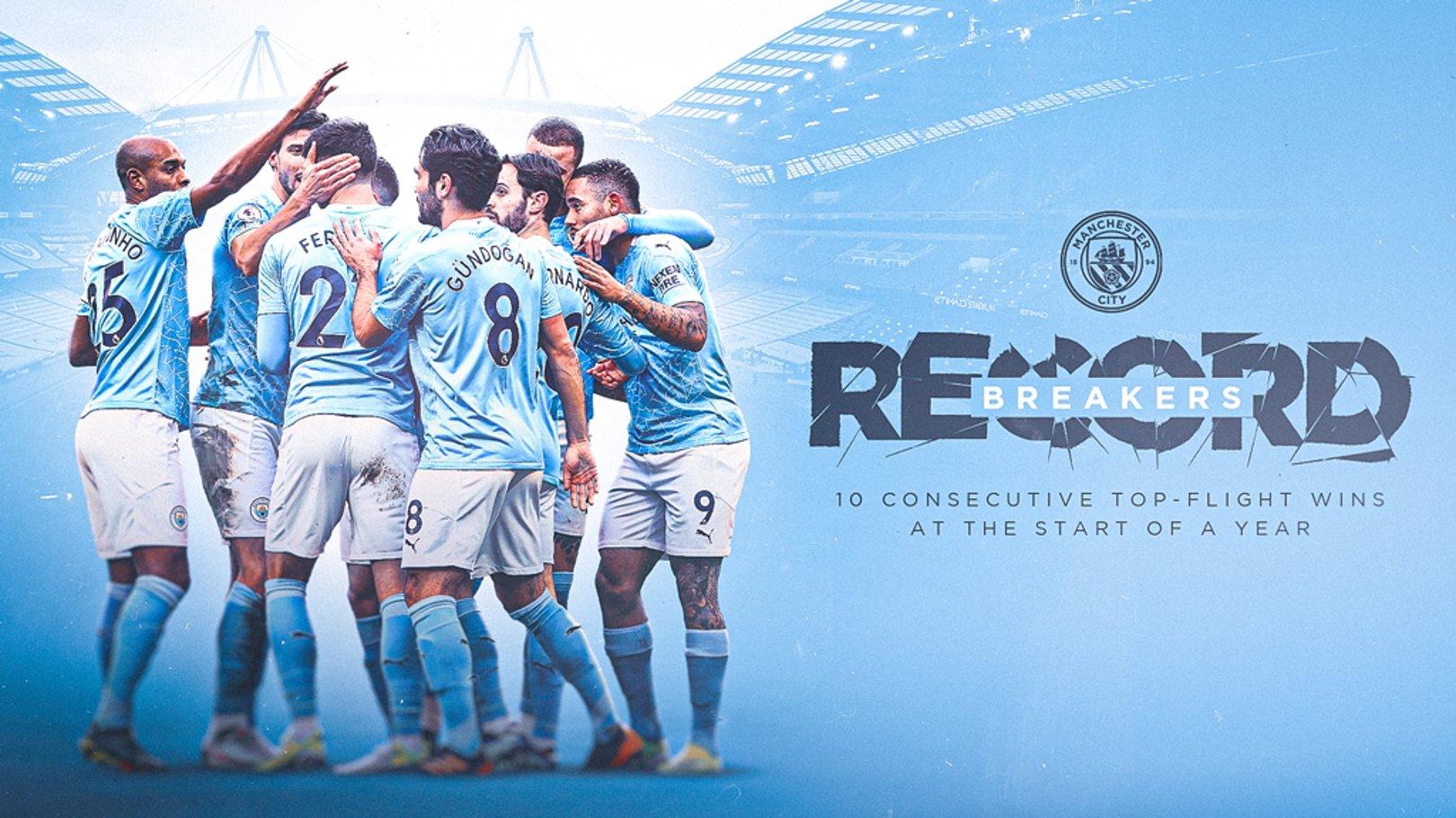 El City establece un nuevo récord del fútbol inglés