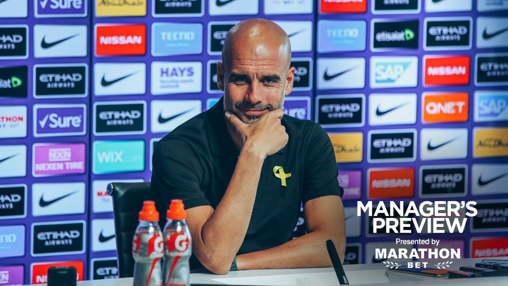 PREVIEW: Pep speaks to the media ahead of City's home game against Huddersfield.