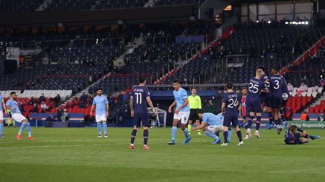 MIDFIElD MAHRVEL: Riyad Mahrez curls home the winning goal