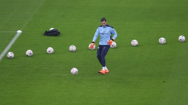 WELCOME BACK : Ederson was amongst the substitutes after returning from COVID-19 self-isolation.