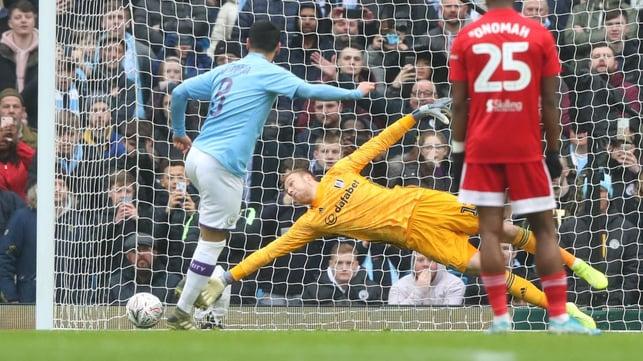 GUNDO-GOAL : Gundogan's accurate spot kick hands City the lead in the eighth minute.