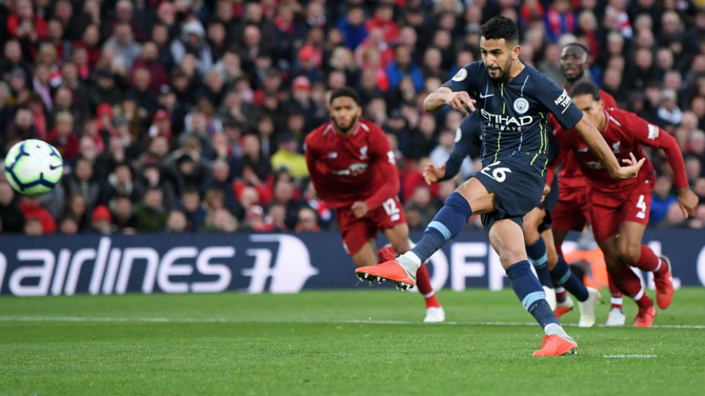 AGONY : Riyad Mahrez is off target with our 87th minute penalty