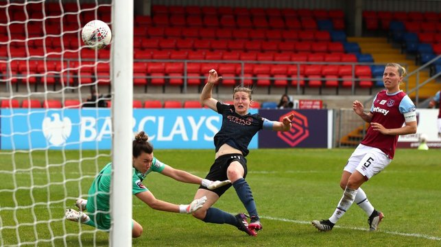 FINALE: Ellen White's birthday goal sees us beat West Ham 1-0, but isn't enough to overtake Chelsea at the WSL summit