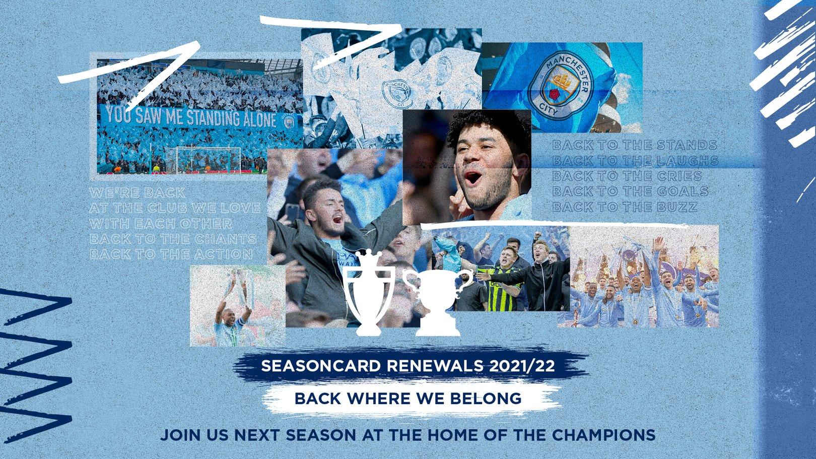 2021/22 Seasoncard renewals now open
