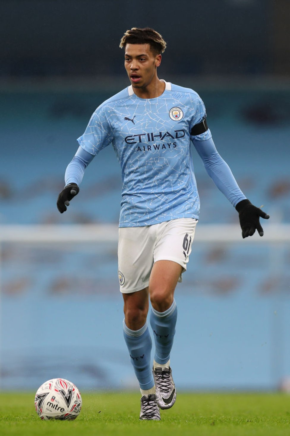 YOUNG GUN : Felix Nmecha was one of three Academy graduates introduced as City comfortably saw out the game in the second half.