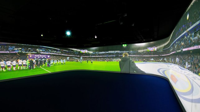 PITCH PERFECT : The Etihad is illuminated in all its glory on a 360 degree cinema screen