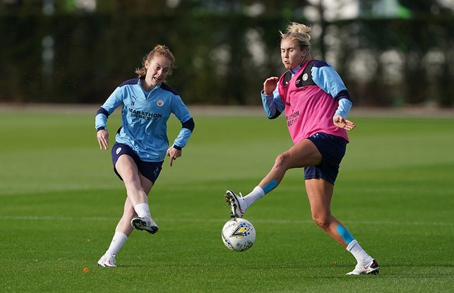 LIONESSES' ROAR PRIDE : England stars Keira Walsh and Steph Houghton go head-to-head