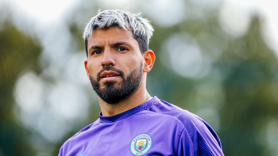UP CLOSE : Sergio Aguero poses for the camera