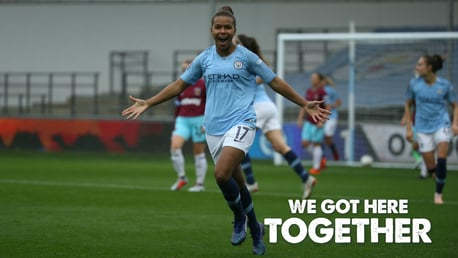TOGETHER: Manchester City women's team will face West Ham United in the FA Cup final.