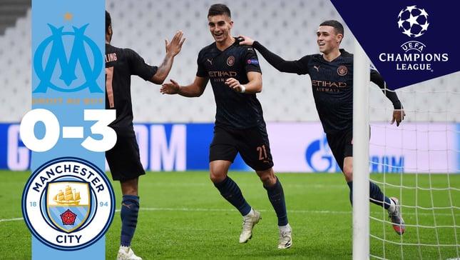 Marsella 0-3 City: resumen