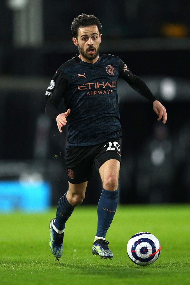 SILKY SILVA : Bernardo brings the ball forward as the clock ticks over the half-hour mark.