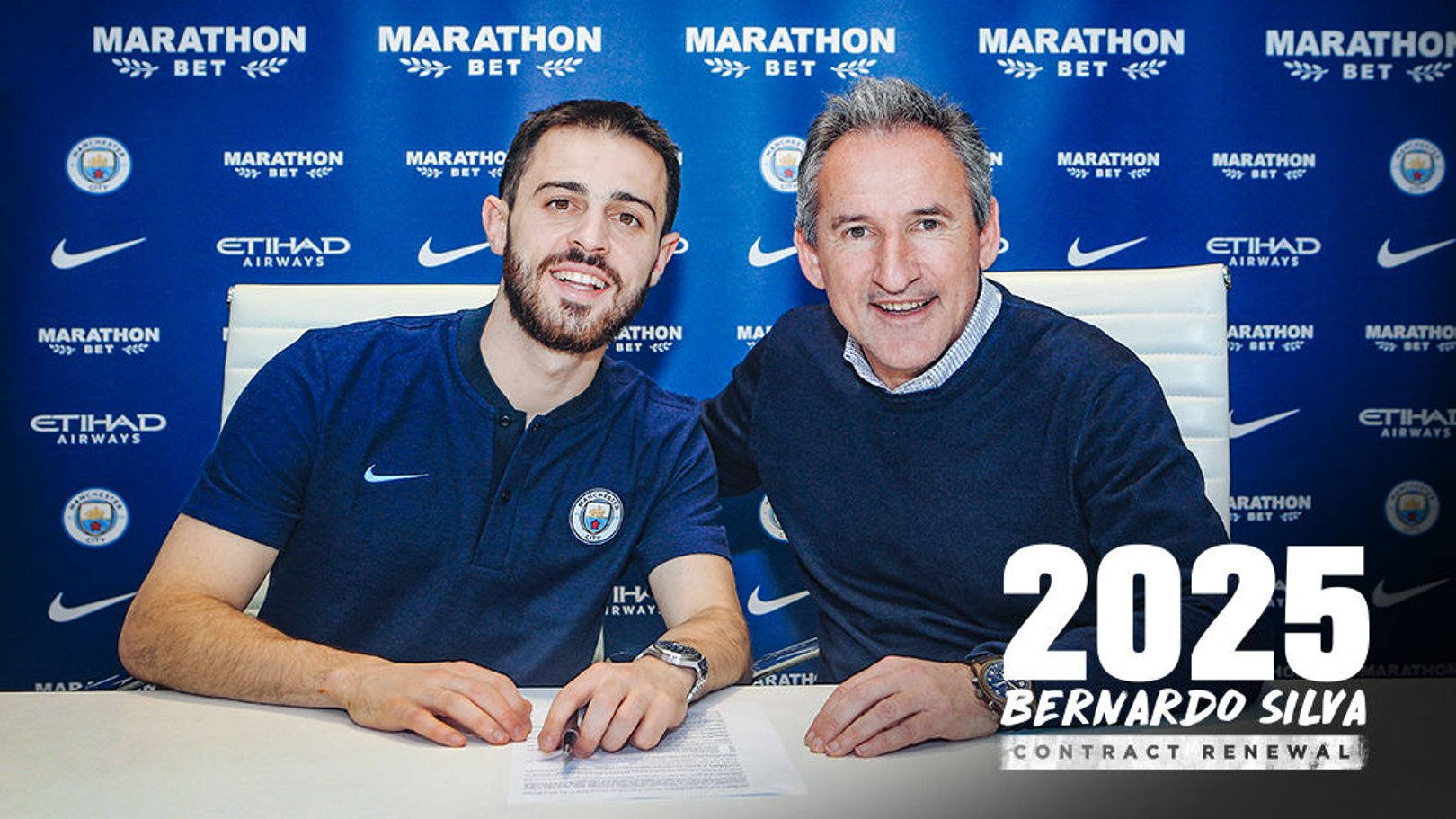 2025: Bernardo Silva has signed a new Manchester City contract
