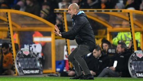 PEP TALK: The boss dishes out instructions from the touchline