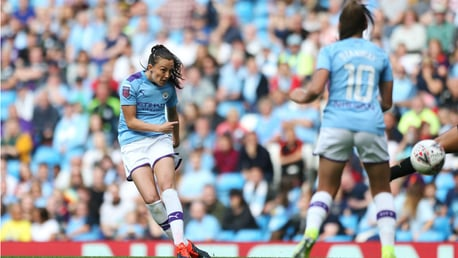 MAGIC MOMENT: Caroline Weir fires home in spectacular fashion early in the second half