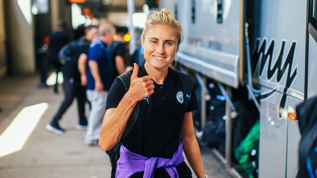 SKIPPER SALUTE : A thumbs up from Steph Houghton