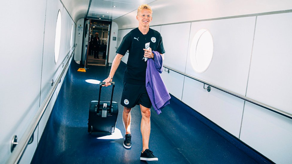 ALL SMILES : Fresh from signing a new deal with the Club, Zinchenko looks happy to be heading to China.