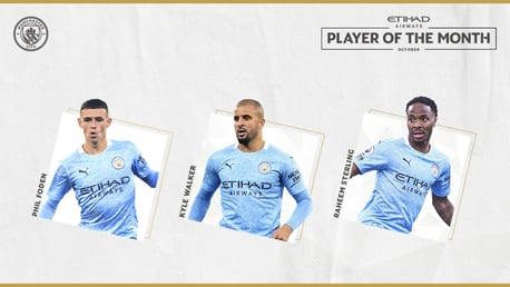 October Etihad Player of the Month nominees revealed