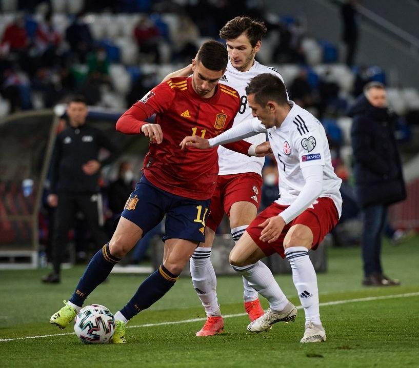 STAR ON SUNDAY: Ferran Torres in action for Spain against Georgia