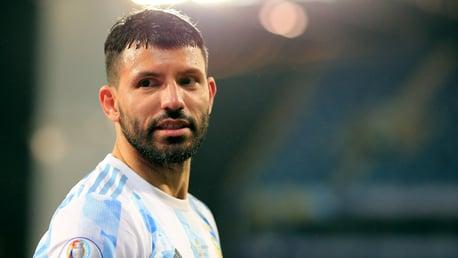 Aguero celebrates 100th Argentina cap in style