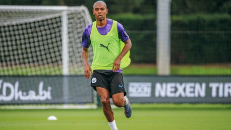 CREATING SPACE: The midfielder dusts off the cobwebs ready for the new season