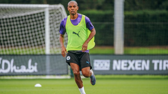 CREATING SPACE : The midfielder dusts off the cobwebs ready for the new season