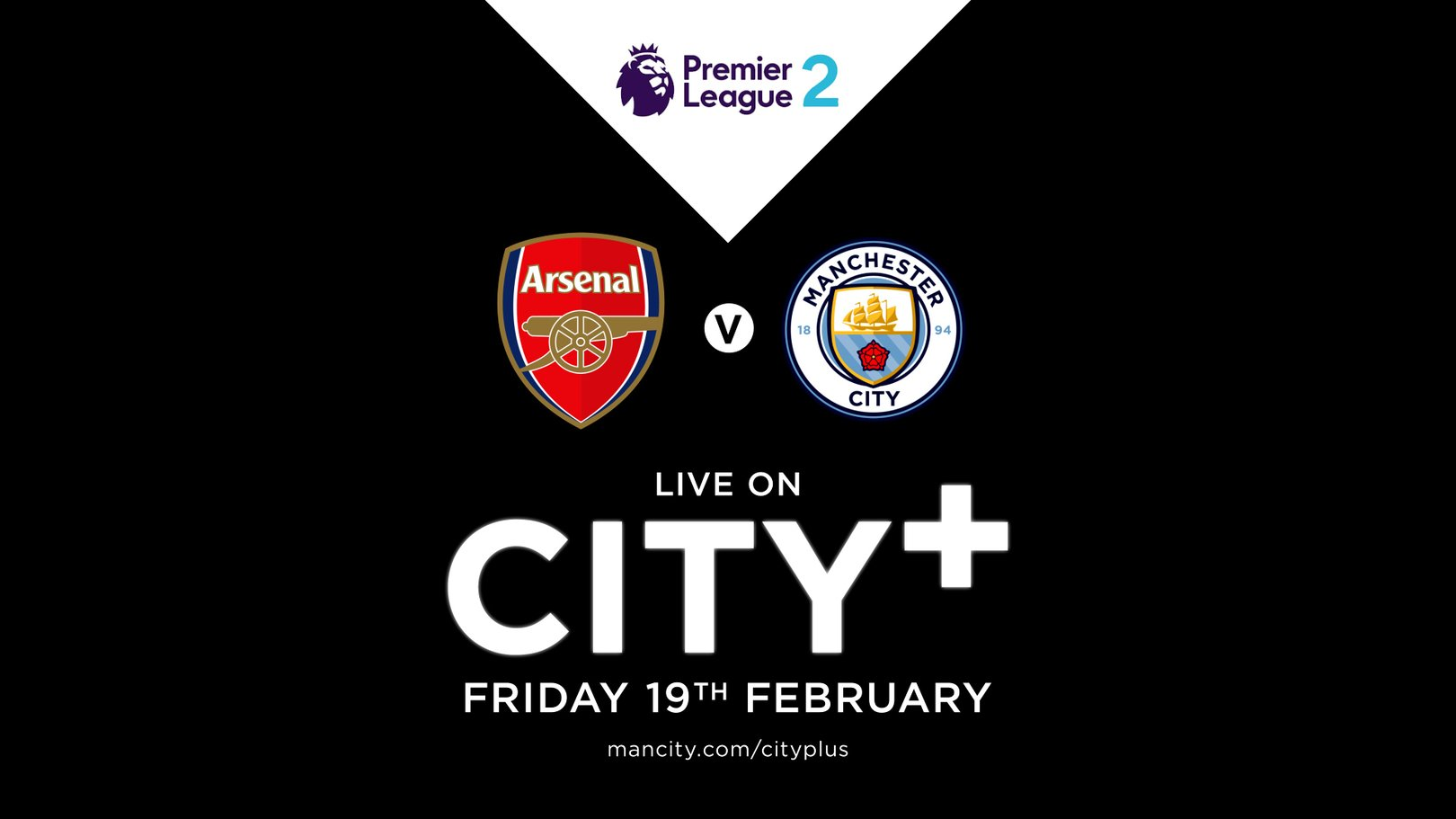 Watch EDS away at Arsenal on CITY+