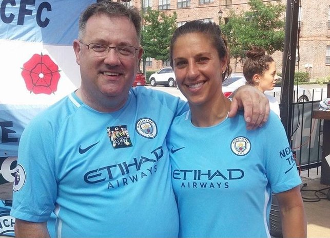 """CHRIS MIDDLETON : """"Man City Women means another journey with Man City. I'm currently Chairman of the the Heroes of Waterloo OSC (Ashton-under-Lyne) and we have a sub-branch: a Women's OSC, where I've promoted the women's game and encouraged fans to come along and watch. We've around 22 in Hospitality and around 30-40 in the stands, and we take around 20+ to every away game. The Branches are a tool to bring like-minded fans together who form lifetime friendships and also provide a cheap way to travel to away games."""""""