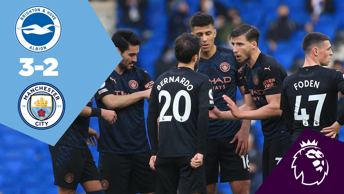 Brighton 3-2 City: Full-match replay