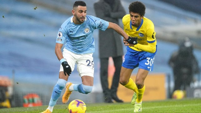 TRICKSTER : Mahrez gets us on the front foot early on.