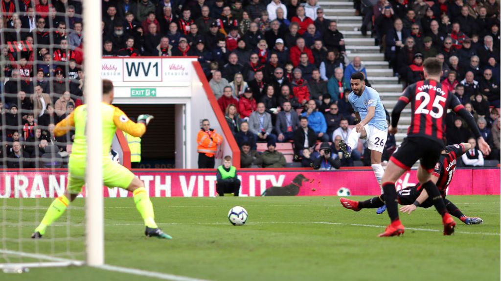 SUPER SUB : Riyad Mahrez breaks the deadlock with a close-range shot early in the second half