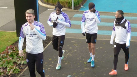 TRAINING: The players arrive at the CFA for training after securing a 4-1 victory over Port Vale.