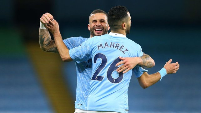 SCORING SENSATION: Kyle Walker enjoyed that one!
