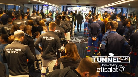 TUNNEL CAM: Behind-the-scenes at the Etihad Stadium as City drew 2-2 with Crystal Palace.