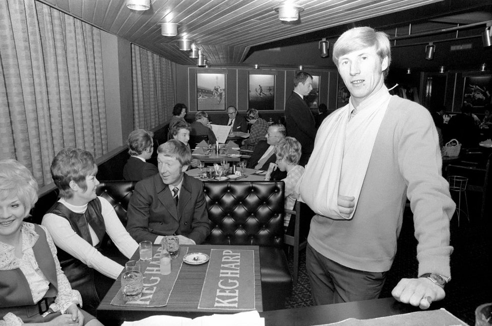 BUSINESSMAN: At the Bell-Waldron restaurant in Whitefield