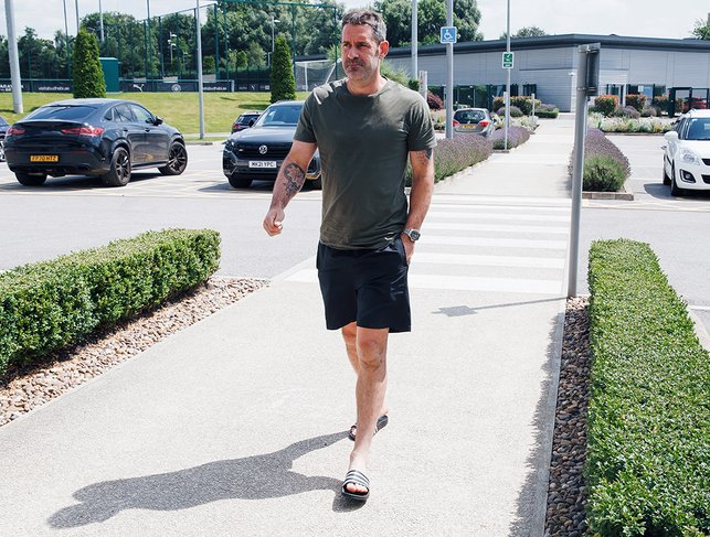 HANDYMAN: Scott Carson was also back at the CFA ahead of Monday's session