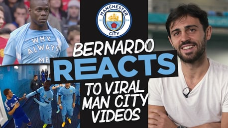 Bernardo Silva reacts: Agueroooo, Balotelli's bib and Yaya's slap