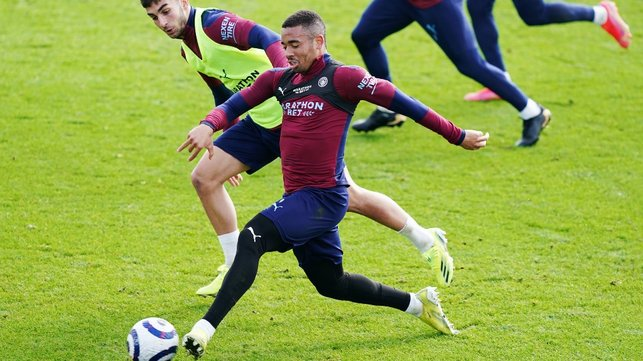 GAB ON THE RUN: Gabriel Jesus in the thick of the action