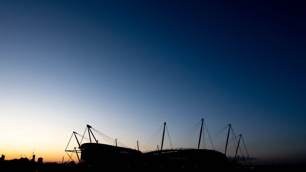 Etihad stadium at night