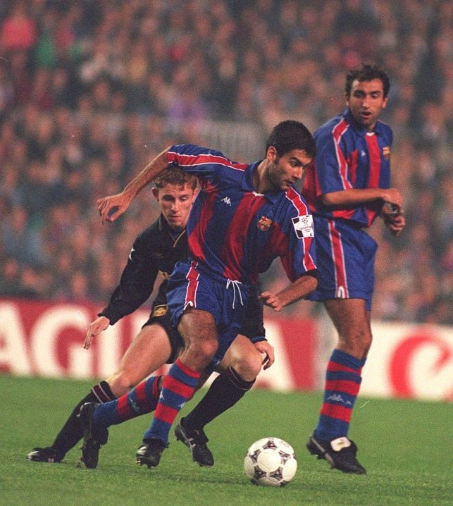 FOUR IN A ROW : Pep helps Barcelona to four La Liga titles on the bounce and a Champions League final in 1994