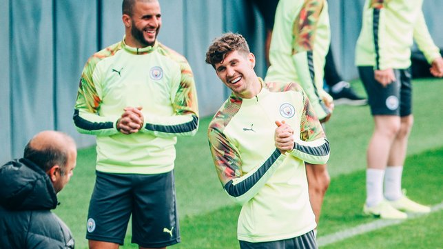 YORKSHIRE BOYS : Positive vibes only for John Stones and Kyle Walker.
