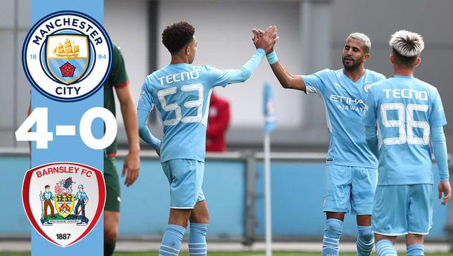 Highlights: City 4-0 Barnsley