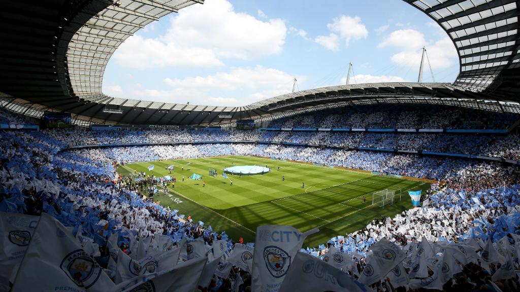 HOME, SWEET HOME: The Etihad Stadium - a sea of blue and white