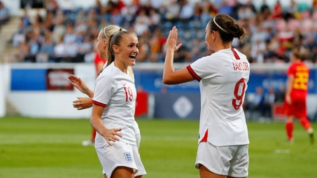 LIONESSES: Stanway scored a screamer in Norway