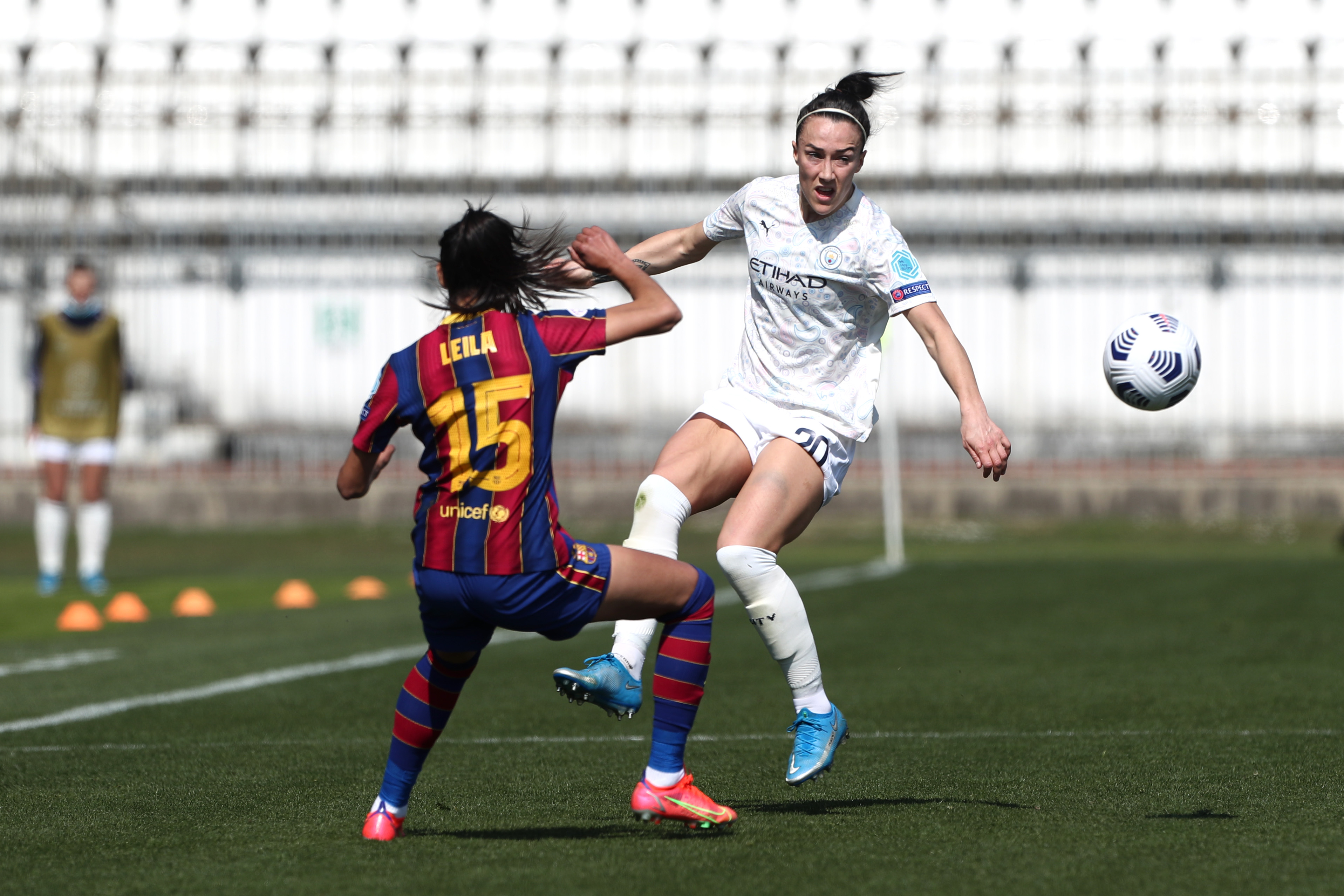 DRIVING ON: Lucy Bronze steps up the intensity